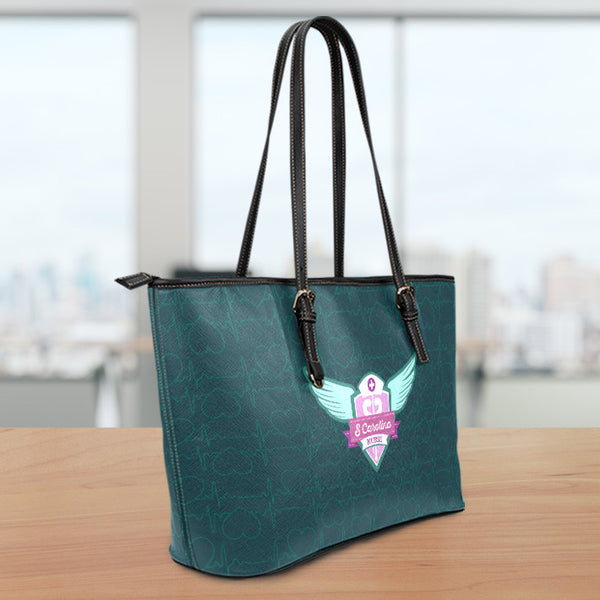 SC Nurse Large Leather Tote Bag