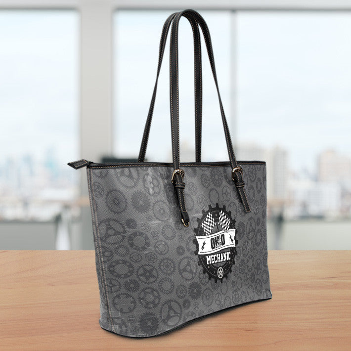 OH Mechanic Small Leather Tote Bag