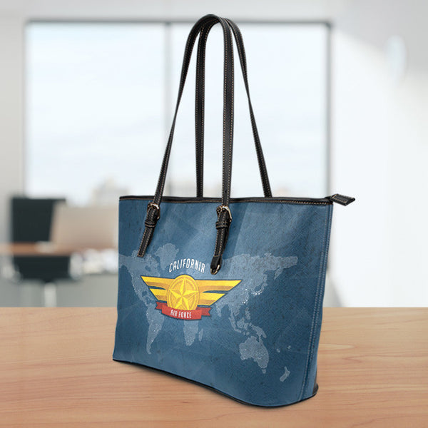 AF-CA Small Leather Tote Bag