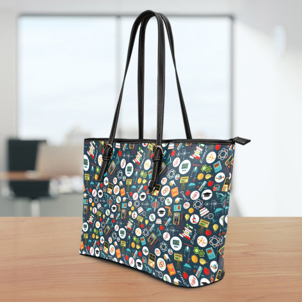 Teacher Small Leather Tote Bag