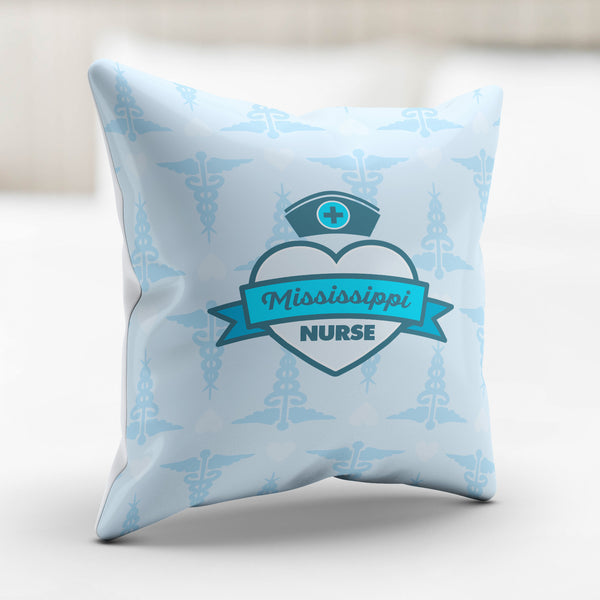 MS Nurse Blue Pillowcase