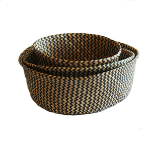 Barro Basket Zig-Zag Black Weave