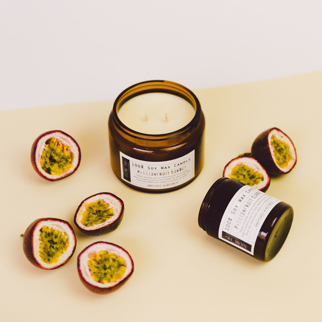 Bistre Range Passionfruit Sorbet 100% Soy Wax Candle