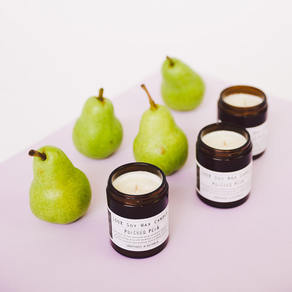 Bistre Range Poached Pear 100% Soy Wax Candle