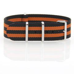 Nylon NATO Watch Strap (Black and Orange)