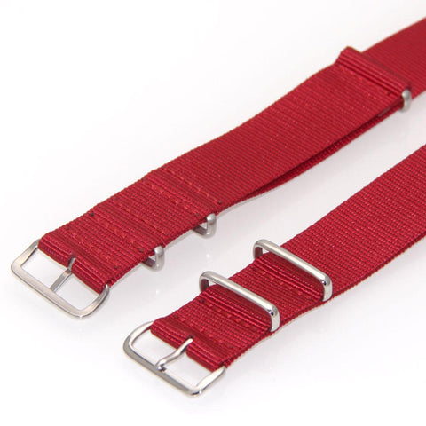 Nylon NATO Watch Strap (Red)