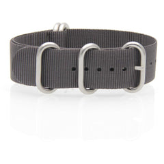 Nylon ZULU Watch Strap (Anthracite Grey)