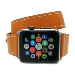 Third-Party Apple Watch Double Tour Luxury Leather Band