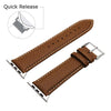 Image of Third-Party Apple Watch Full Grain Calf Leather Watch Strap