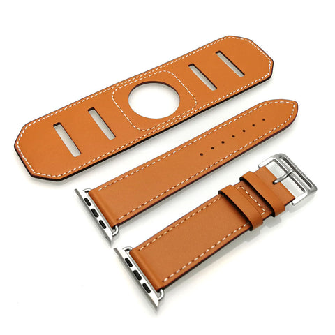 Third-Party Apple Watch Luxury Cuff Leather Band