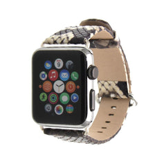 Third-Party Apple Watch Snake Grain Calf Leather Band (Glossy)