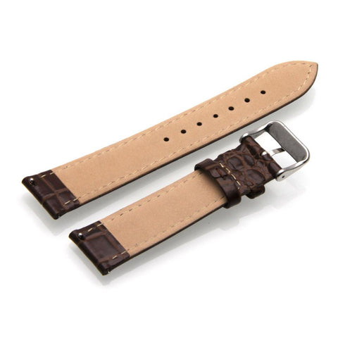Third-Party Samsung Gear S2 Classic Alligator Pebble Grain Calf Leather Watch Strap