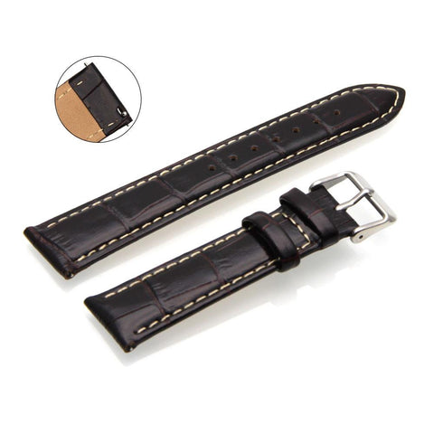 Third-Party Samsung Gear S2 Classic Alligator Square Grain Calf Leather Watch Strap