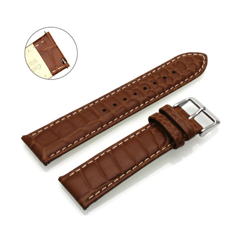 Third-Party Samsung Gear S3 Alligator Pebble Grain Calf Leather Watch Strap