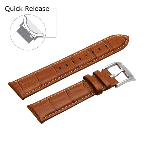 Third-Party Samsung Gear S3 Alligator Square Grain Calf Leather Watch Strap