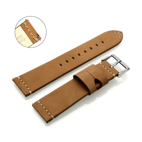 Third-Party Samsung Gear S3 Calf Leather Suede Watch Strap