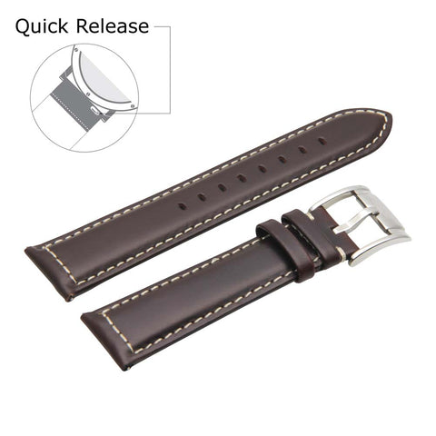 Third-Party Samsung Gear S3 Vintage Calf Leather Watch Strap (White Stitching)