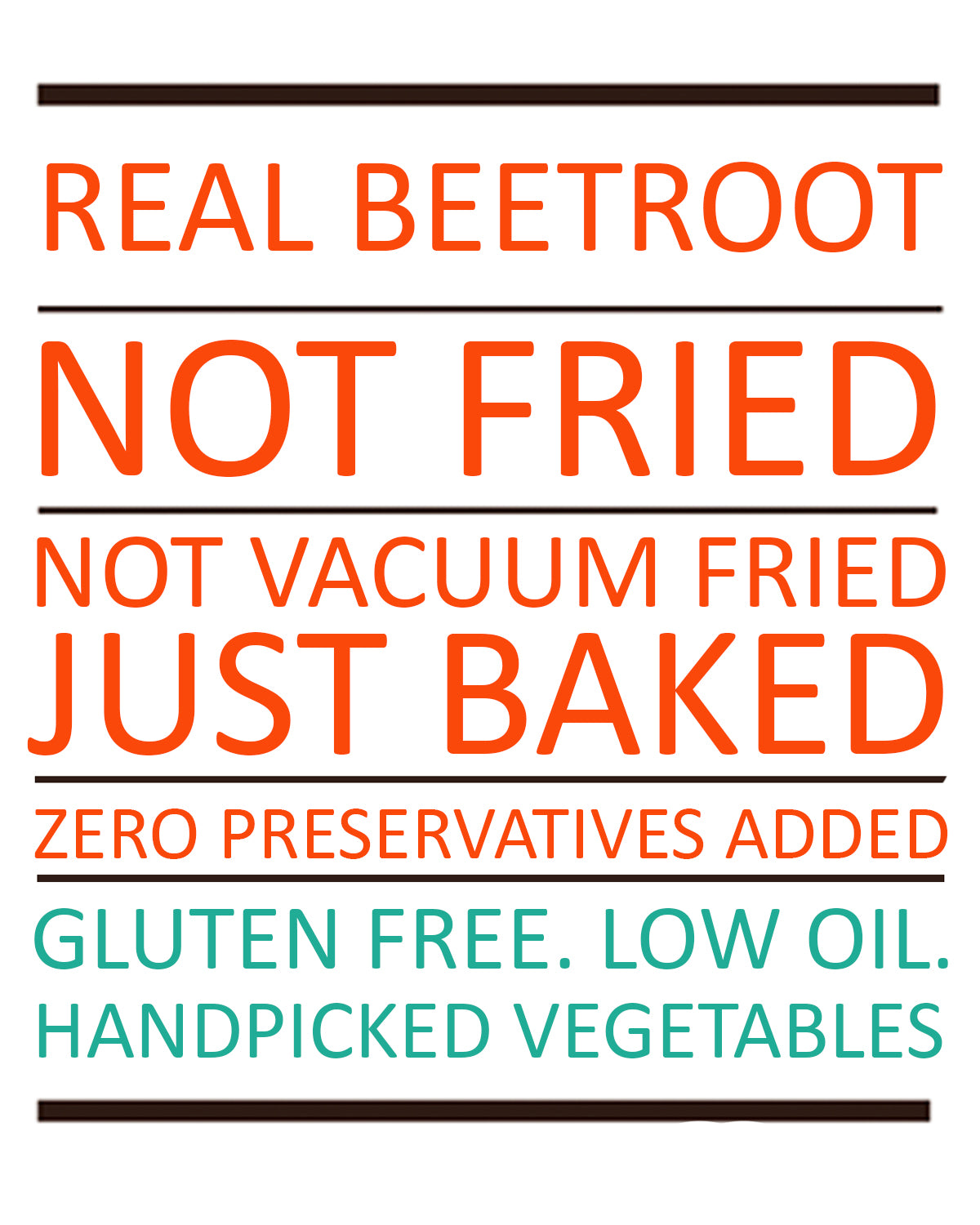 Baked Beetroot Chips -  Classic rock salted