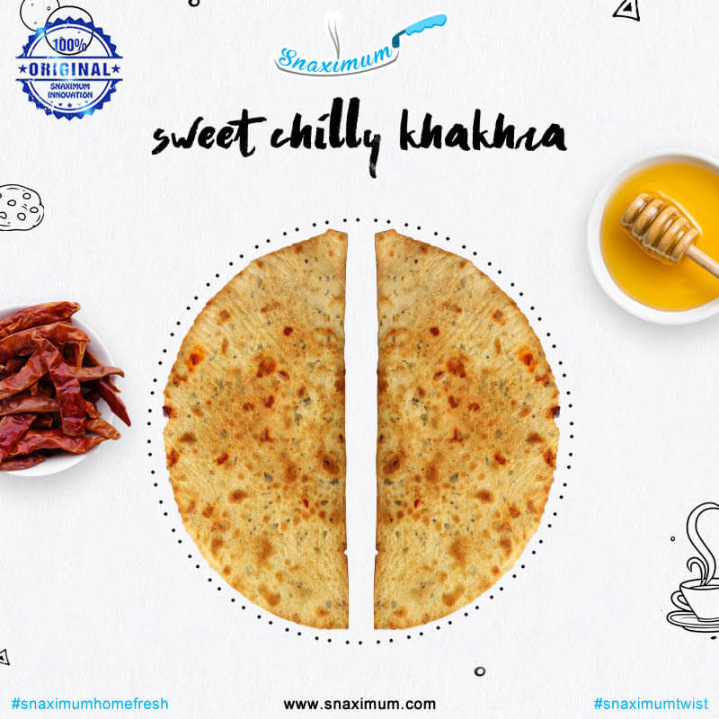 Sweet chilli khakhra | 16 half pieces  | Snaximum Twist | Mumbai
