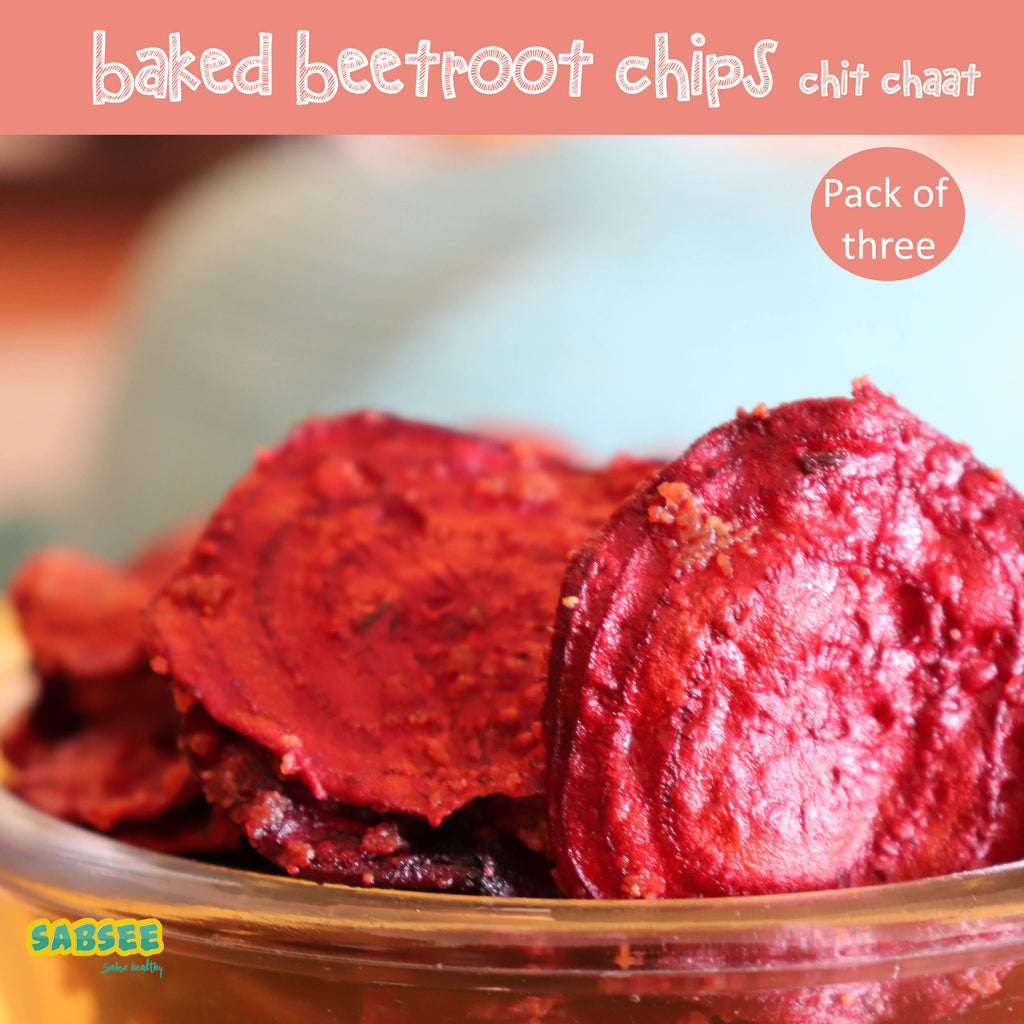 Baked Beetroot Chips -  Chit Chaat