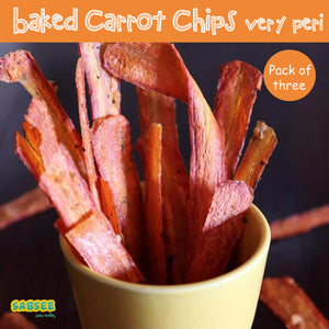 Baked carrot Chips - Very Peri