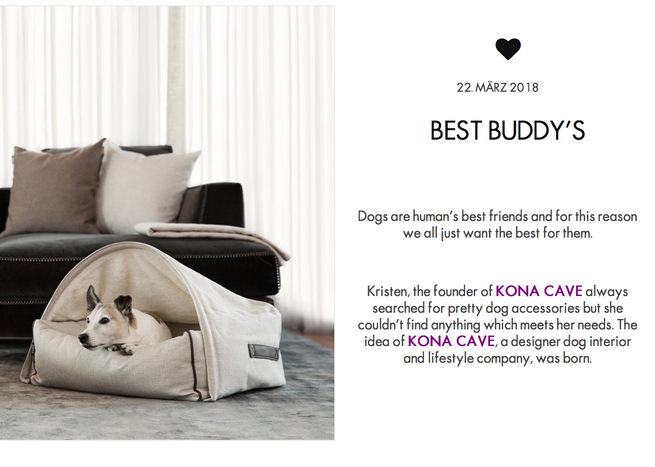 KONA CAVE® Press and Reviews - Specialty Dog Beds You Will