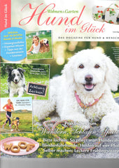 KONA CAVE® Travel Dog Bed in Spring Colors - Tan with pastel pink and blue - As seen in Hund Im Gluck Magazine