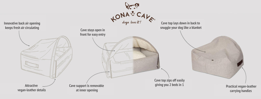 KONA CAVE® Snuggle Cave Bed patent protected design