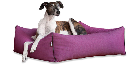 KONA CAVE, Luxury dog bed, allergy resistant, sophisticated pink, high-quality, washable, supportive, big dogs