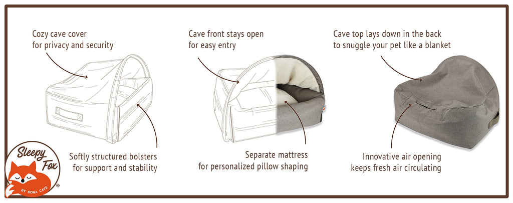 Sleepy Fox™ Snuggle Cave Bed Patent Protected Features and Design Benefits