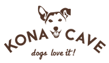 KONA CAVE® logo - cute Jack Russell Illustration