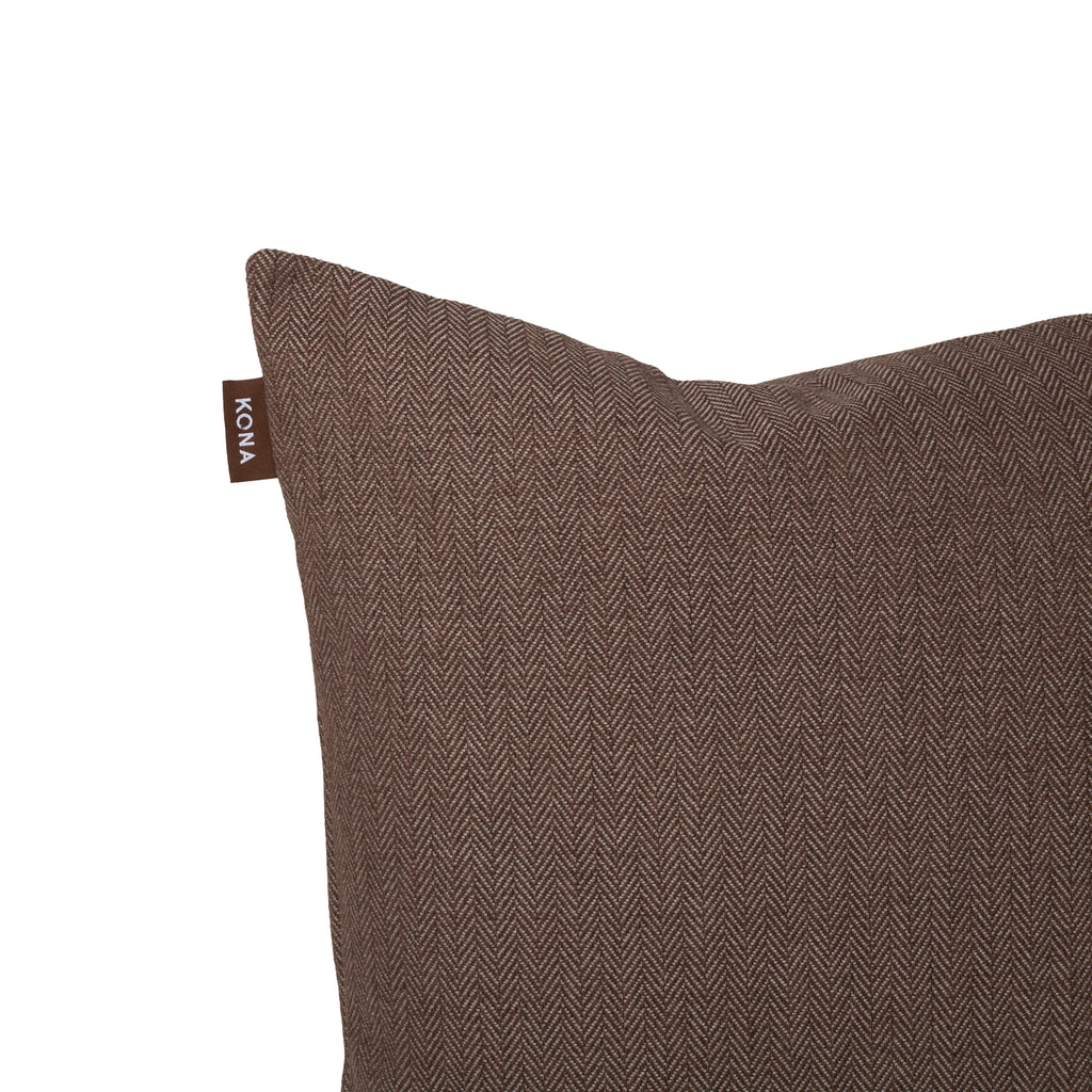 KONA CAVE® Brown Herringbone Pillow Cover