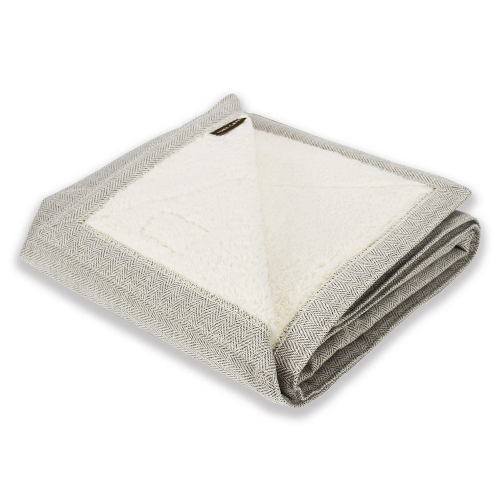 Blanket - Cream Herringbone