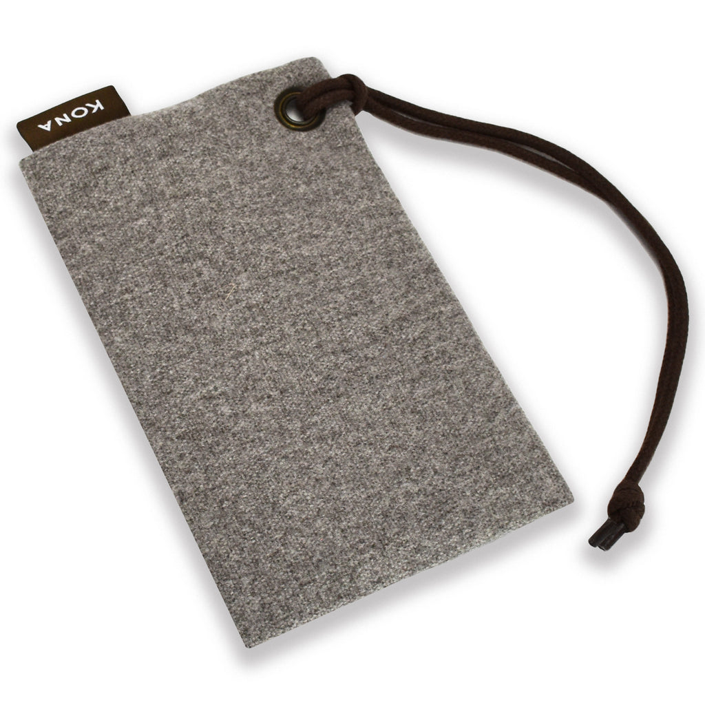 KONA CAVE® Essential Zipper Bag in Grey Flannel