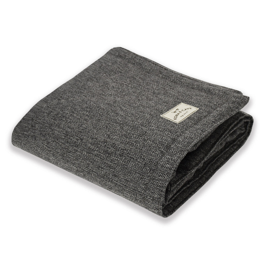 Blanket - Grey Herringbone