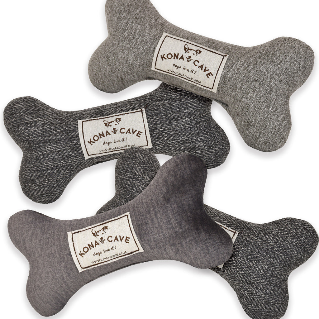 Pantone 2021 Color of the Year Ultimate Gray Dog Bone Toy Set
