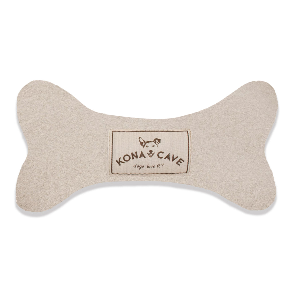 Dog Bone Toy - Beige Flannel