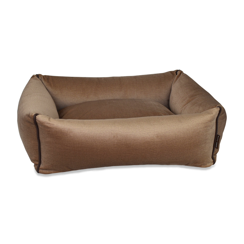 Snuggle Cave Pet Bed - Beige Velvet