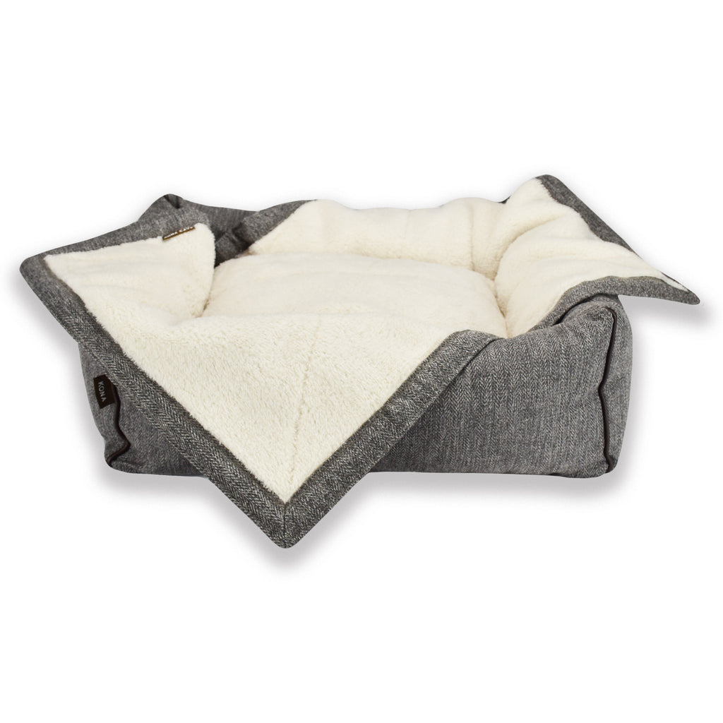 KONA CAVE® Pet Blanket fits perfects to our small Snuggle Cave and Bolster Beds, adding a little layer of extra comfort and a barrier to keep beds clean between washes