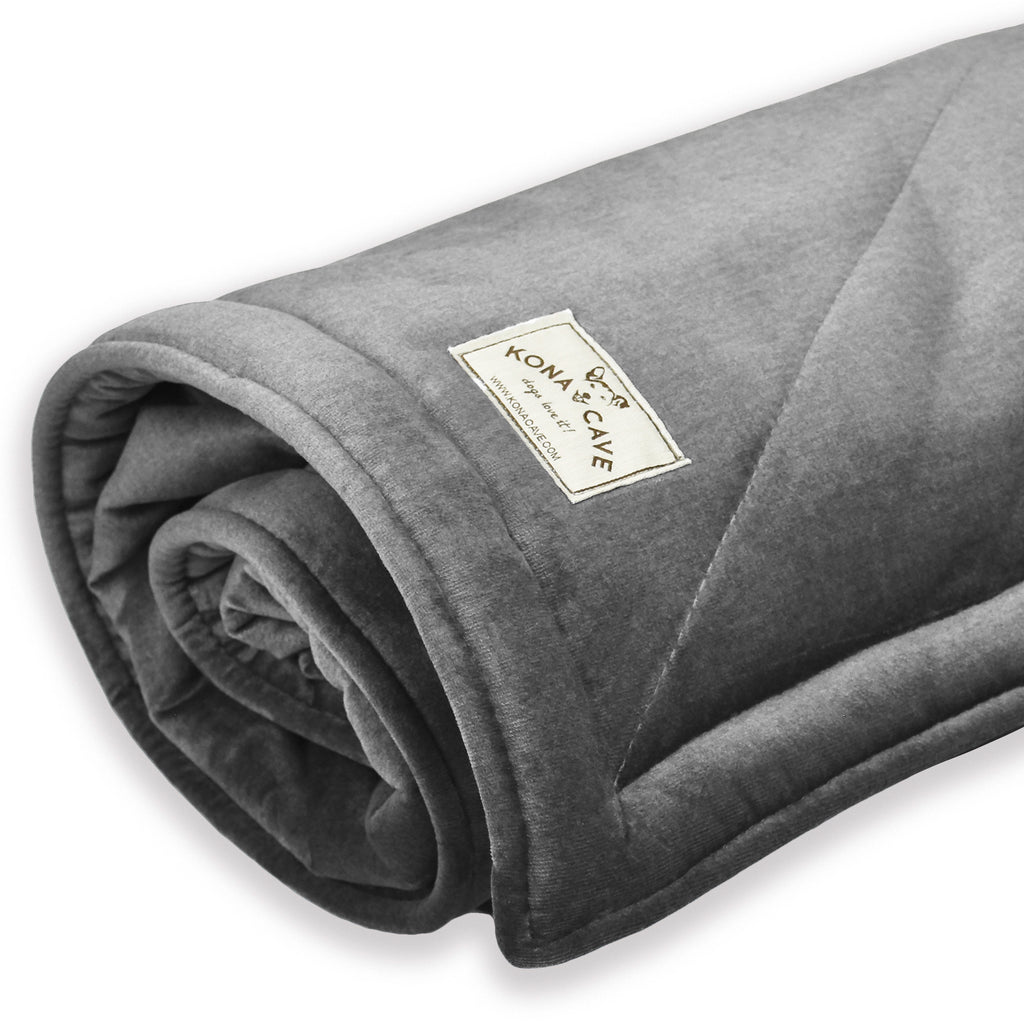 Blanket - Luxury Graphite Grey Velvet & Faux Fur