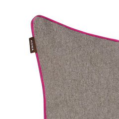KONA CAVE Premium Flannel Fabric - Grey/Hot Pink