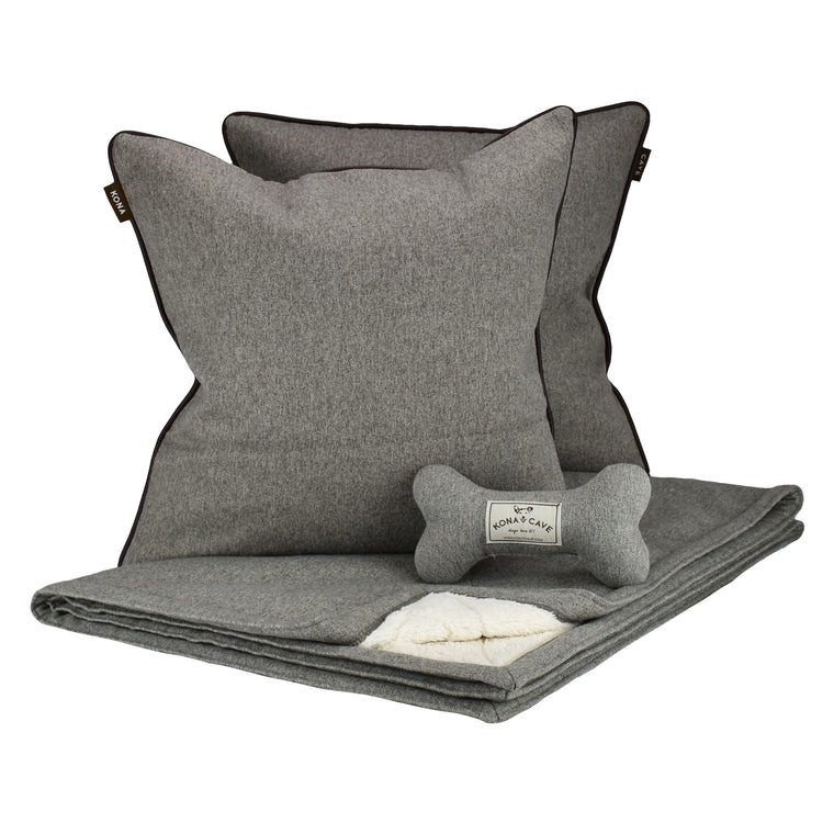 Doggy Décor Set - Grey Flannel
