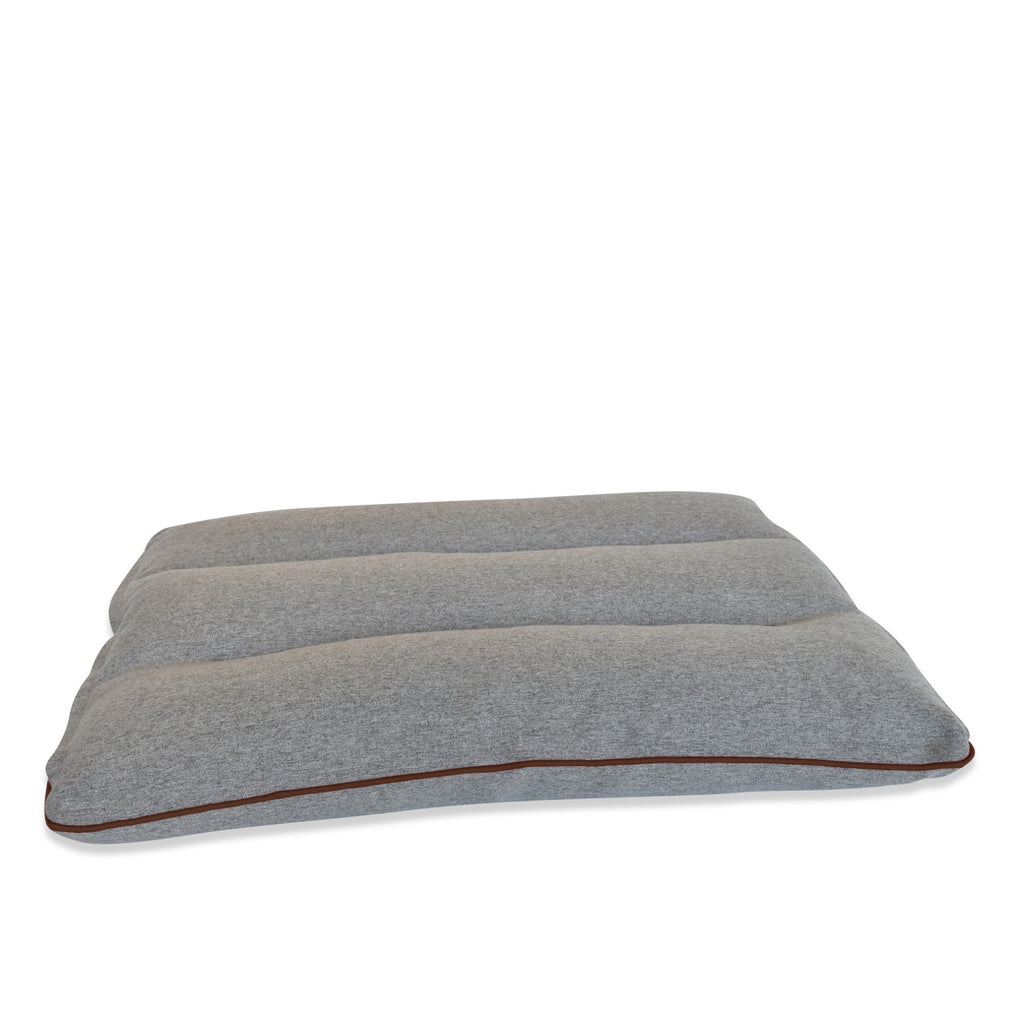 KONA CAVE® Cloud Bed - Extra supportive and thick dog bed with leather trim.