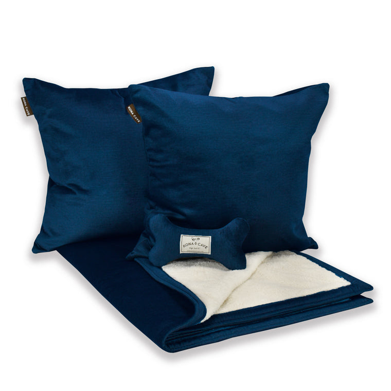 Doggy Décor Set - Midnight Blue Velvet