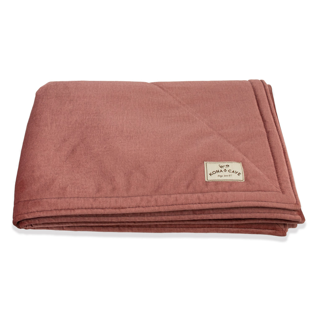 KONA CAVE® Pale Pink Velvet Furniture Blanket with Sherpa Fleece Lining (Large)