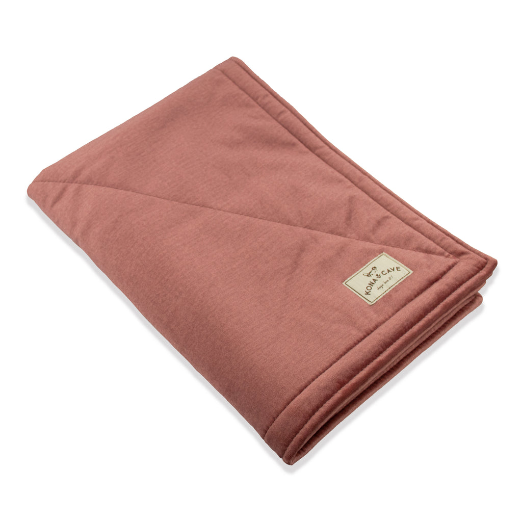 KONA CAVE® Pale Pink Velvet Pet Blanket with Sherpa Fleece Lining (Small)