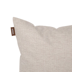 Kona Cave Cosy Snuggle Cave Dog bed in Elegant Cream Herringbone
