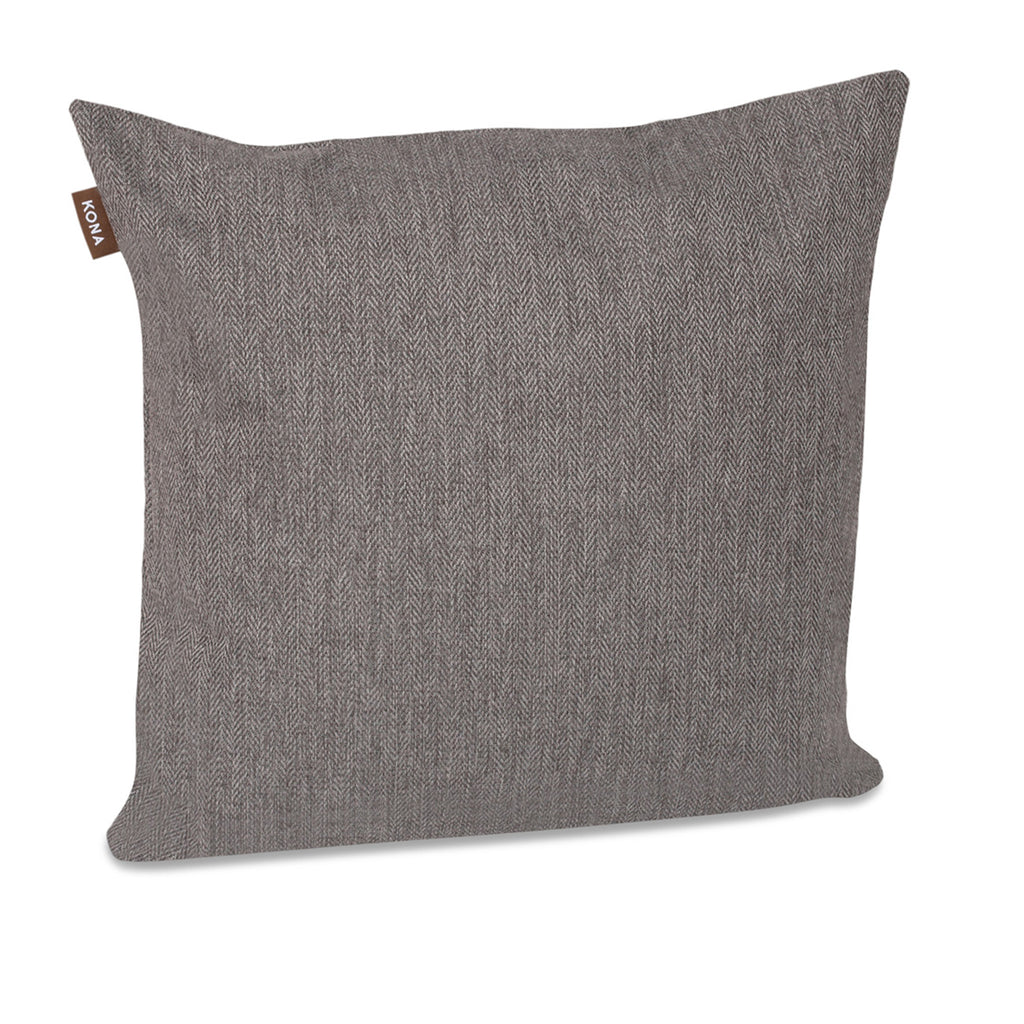 KONA CAVE® Decorative pillow covers, sophisticated grey herringbone fabric.