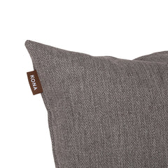 Kona Cave Cosy Snuggle Cave Dog bed in Elegant Grey Herringbone