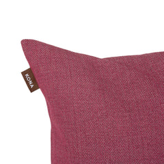 Kona Cave Cosy Snuggle Cave Dog bed in Pink Herringbone